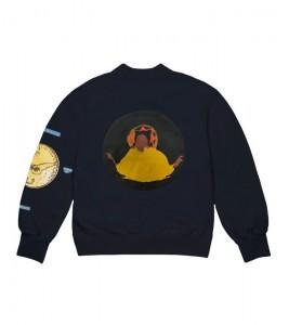 Свитшот Kanye West Jesus Is King Chicago Gold II Crewneck Navy - Фото №2