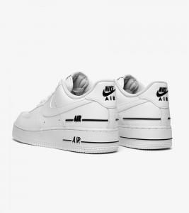 Кроссовки Nike Air Force 1 Double White Black - Фото №2