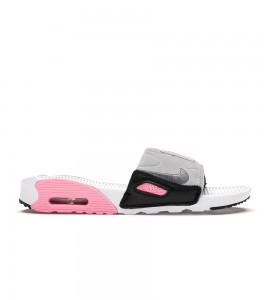 Кроссовки Nike Air Max 90 Slide White Rose Cool Grey (W)