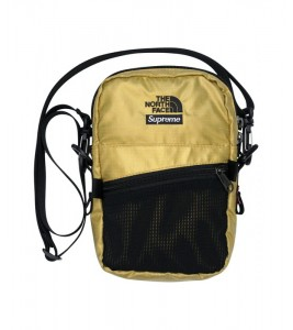 Сумка Supreme х The North Face Metallic Shoulder Bag Gold