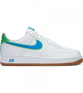 Кроссовки Nike Air Force 1 Low White Green Blue