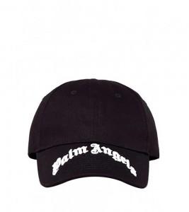 Palm Angels Black Classic Logo Brim Cap
