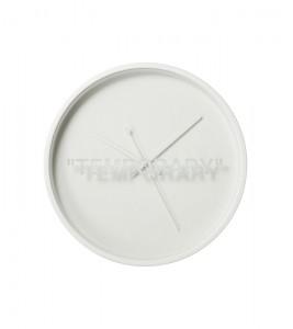 "Часы Virgil Abloh x IKEA MARKERAD ""TEMPORARY"" Wall Clock White"