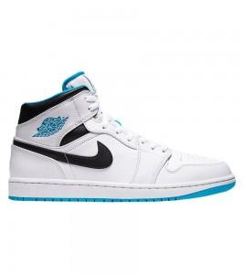 Кроссовки Air Jordan 1 Mid Laser Blue