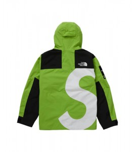 Куртка Supreme х The North Face S Logo Mountain Jacket Lime - Фото №2