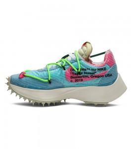 Кроссовки Off-White x Nike Wmns Vapor Street Polarized Blue - Фото №2