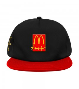 Кепка Travis Scott x McDonald's Smile Black Red