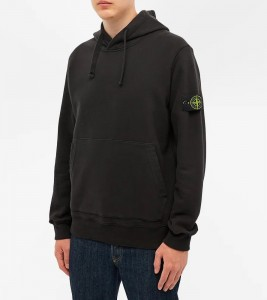 Худи Stone Island Garment-Dyed Hoodie Black - Фото №2