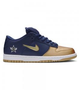 Кроссовки Supreme x Nike SB Dunk Low Metallic Gold