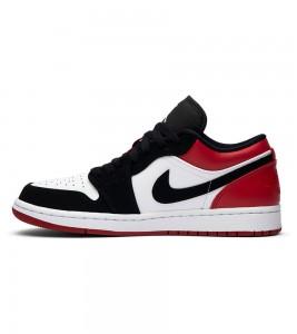 Кроссовки Air Jordan 1 Low Black Toe - Фото №2