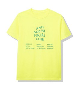 Футболка Anti Social Social Club Med Neon Green - Фото №2
