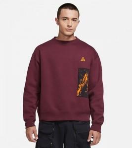 Свитшот Nike ACG Fleece Sweatshirt Maroon