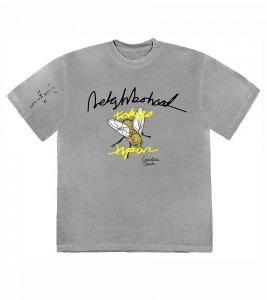 Футболка Travis Scott Cactus Jack x Neighborhood Carousel T-Shirt Grey - Фото №2