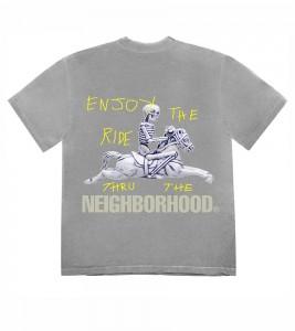 Футболка Travis Scott Cactus Jack x Neighborhood Carousel T-Shirt Grey