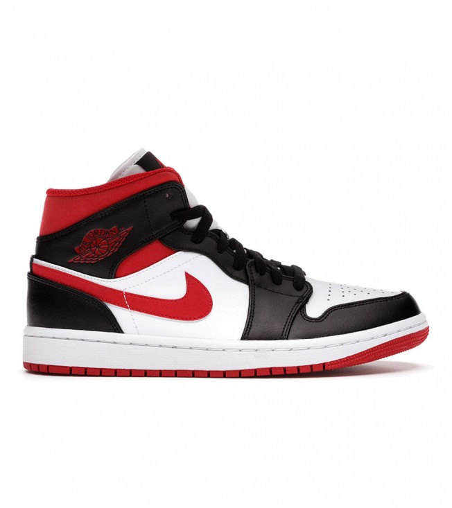 Кроссовки Jordan 1 Mid Gym Red Black White