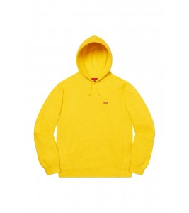 Худи Supreme Small Box Logo Yellow