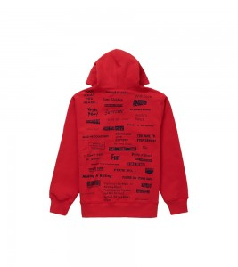Худи Supreme Stop Crying Hooded Sweatshirt Red - Фото №2