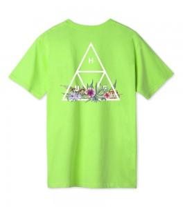Футболка HUF T-Shirt Botanical Garden Triple Triangle Green - Фото №2