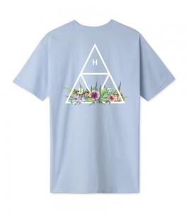 Футболка HUF T-Shirt Botanical Garden Triple Triangle Blue - Фото №2