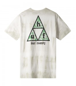 Футболка HUF T-Shirt Overgrown White - Фото №2