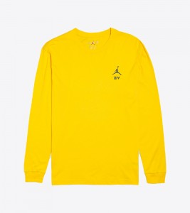 Лонгслив Air Jordan Legacy AJ4 Tee Yellow
