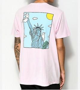 Футболка RIPNDIP Liberty Pink T-Shirt - Фото №2