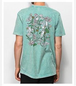 Футболка RIPNDIP Nermal Flowers Sage T-Shirt - Фото №2