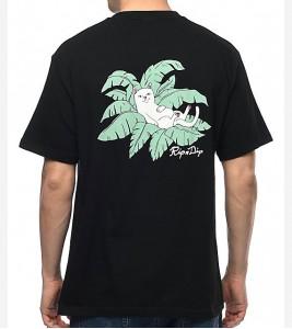 Футболка RIPNDIP Nermal Leaf Black T-Shirt - Фото №2