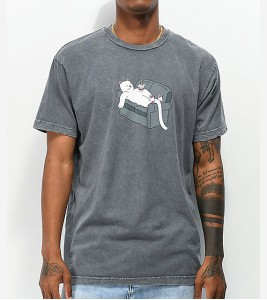 Футболка RIPNDIP Noodles Grey Mineral T-Shirt