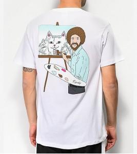 Футболка RIPNDIP Ross White T-Shirt - Фото №2