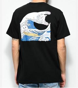 Футболка RIPNDIP The Great Wave Of Nerm Black T-Shirt - Фото №2