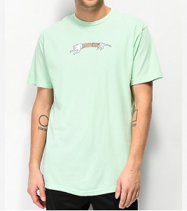 Футболка RIPNDIP Zipper Face Mint T-Shirt