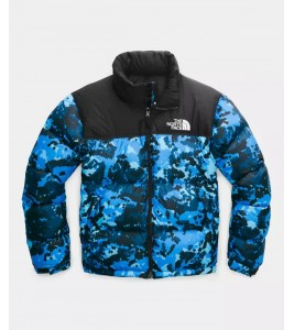 Куртка The North Face 1996 Retro Nuptse Clear Lake Blue Digi Topo Print WMNS