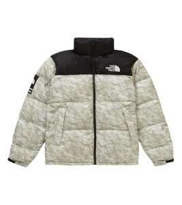 Куртка Supreme x The North Face Nuptse Jacket Paper Print