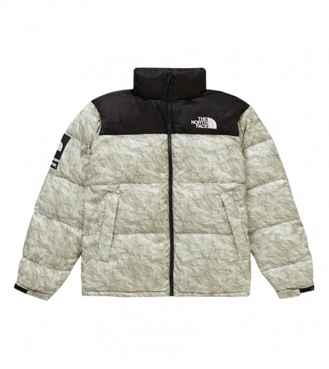 Куртка Supreme x The North Face Nuptse Jacket Paper Print